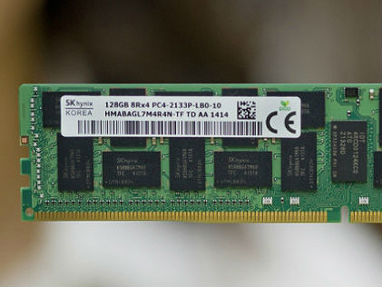 Photo of a 128GB DDR4 memory module