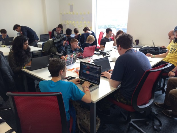 Young coders at Bright Futures Centre, MediaCityUK, Manchester