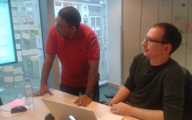 (l-r) Aldridge Fisher and Neil Fletcher at GDS