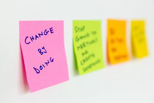 Change by doing note